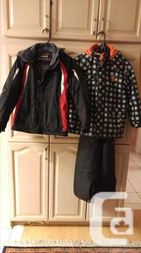 Size 4 -12 Boys Sens Shirts, Ski jackets, snow pants,