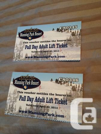 Ski Manning Park discount lift tickets - $30