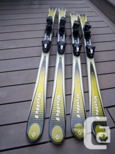 Skis volkl sport carve cm for sale in calgary