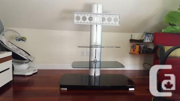 Sleek & Modern Floating Adjustable TV Stand with 2