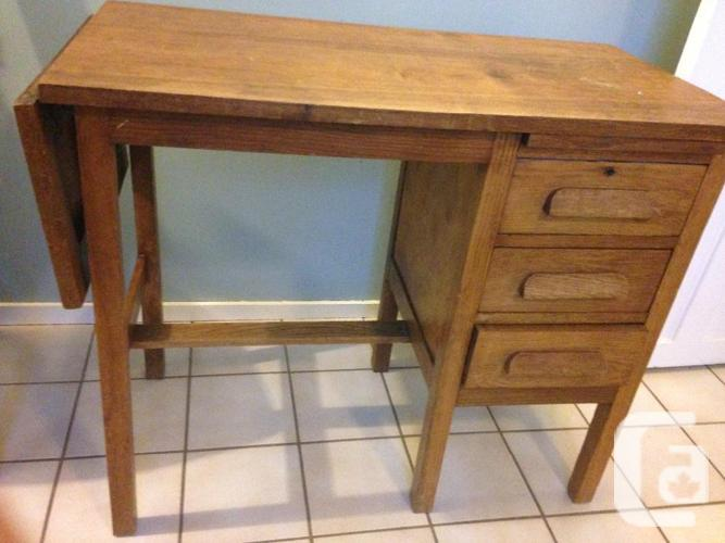 Smaller oak antique desk for sale in victoria british for Furniture victoria bc