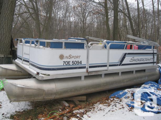 Smokercraft Pontoon Boat For Sale In Braeside Ontario