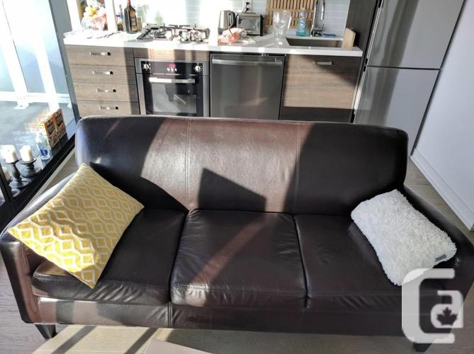 Sofa Ikea Jappling, Dark Brown In A Perfect Condition,
