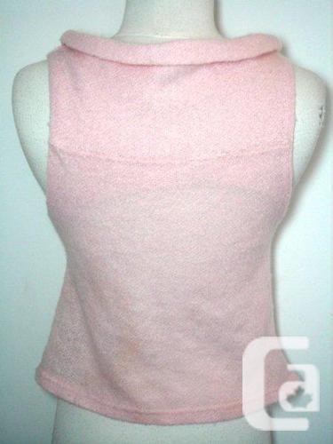 Soft Pink Knit Tank Top / Sleeveless / Cami