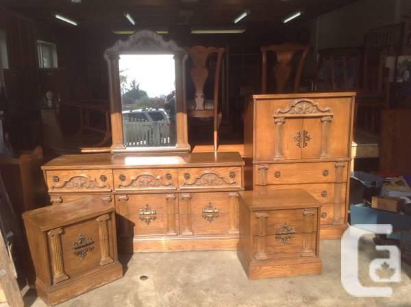 Solid fruitwood 6 piece bedroom set for sale in victoria for Furniture victoria bc