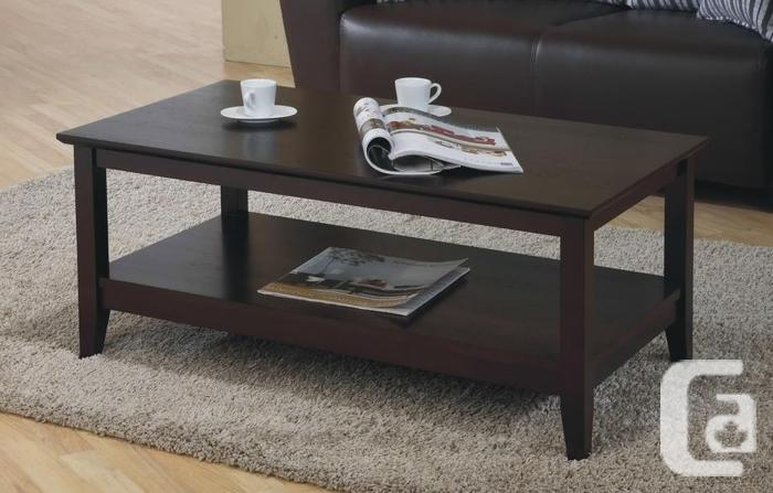 Solid Hardwood Coffee Table-Brand new in Box! Free