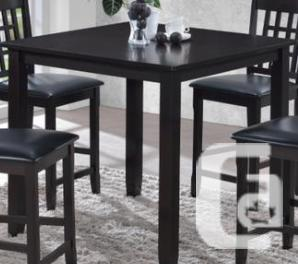 Solid Hardwood Counter Height Dining Table-New-Taxes/