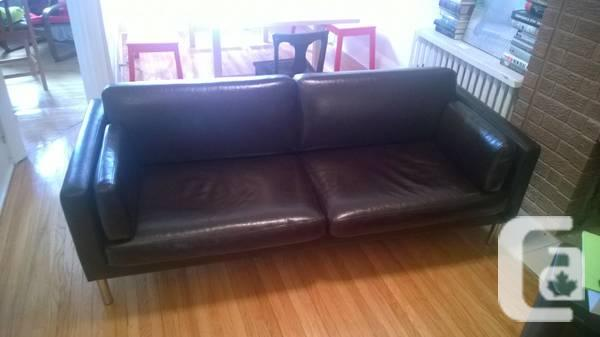 Solid Leather Smallish Couch Loveseat From Ikea For Sale In Toronto Ontario Classifieds