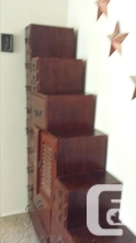 Solid Mahogany Wall Unit