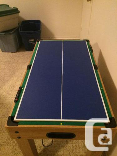 Solid wood 10 in 1 games table for sale in kanata ontario for 10 in one games table