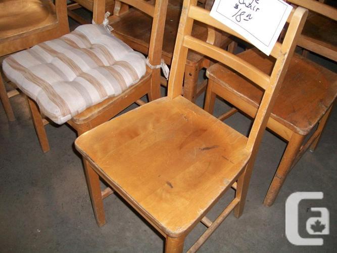 Solid Wood Chairs for sale at St Vincent de Paul on Quadra