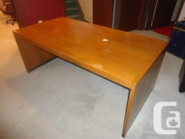 Solid Wood Desk - $80