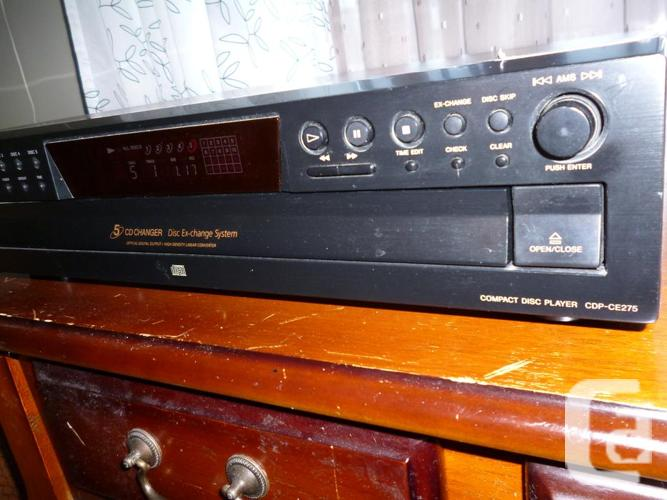 Sony CDP-CE275 Stereo 5 CD Changer Compact Disc Player