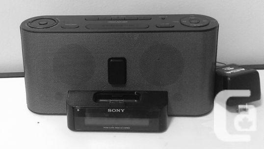Sony Speaker System with Clock Radio and iPod Dock