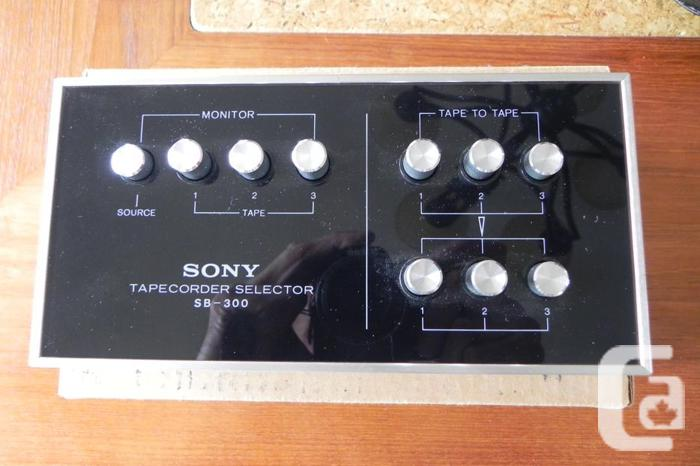 Sony tape recorder Selector
