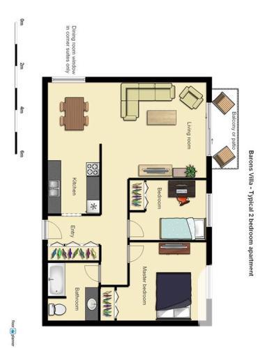Spacious 2 bedroom corner apartment