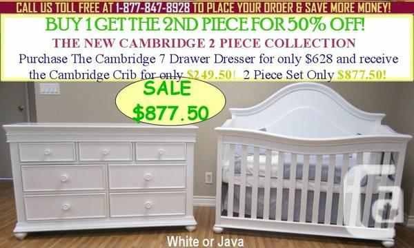 SPRING SALE! SAVE 50% OFF CONVERTIBLE BABY CRIBS, SETS!