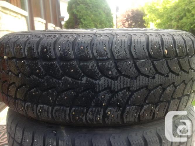 Studded Snow Tires with Steel Rims for sale in Otterburne, Manitoba Classifieds - CanadianListed.com
