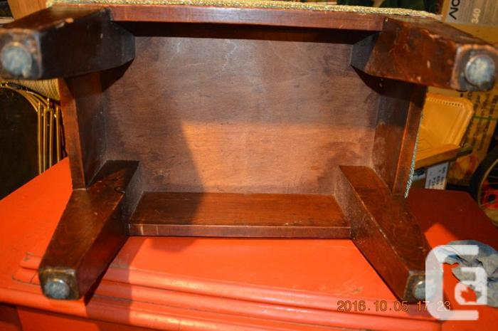 Sturdy antique foot stool