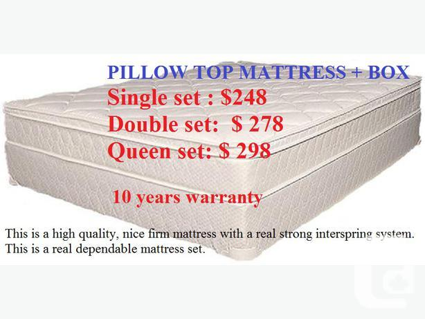 $$$Super Value Sale-Brand New PILLOWTOP mattress+box