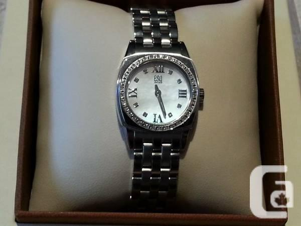 Swiss Watch - Diamonds with Bright Motherofpearl Watch