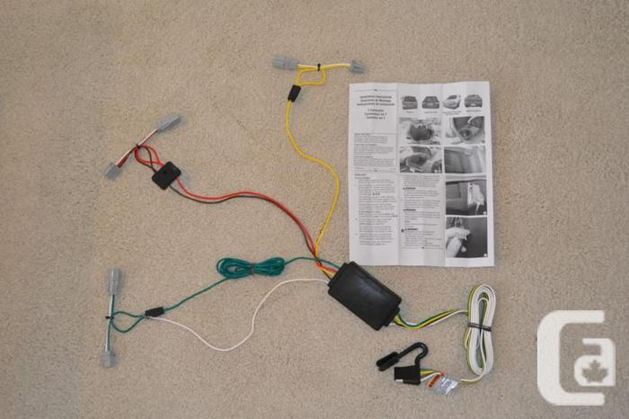 t one vehicle wiring harness with 4 pole flat trailer connector new for sale in duncan