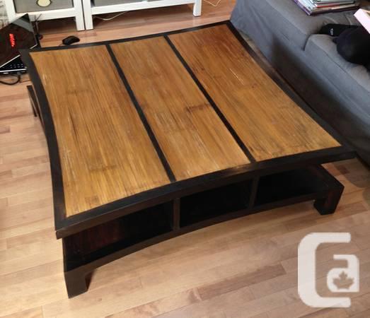 TABLE BASSE ZEN NOIR (surface Bambou) / ZEN BLACK COFFEE