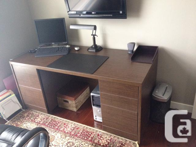 Table, chiar and Filing cabinet