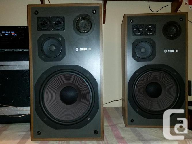 Telefunken Studio 70 3 way speakers/ Sherwood 10""