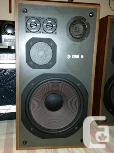 Telefunken Studio 70 3 way speakers/Sherwood 8300