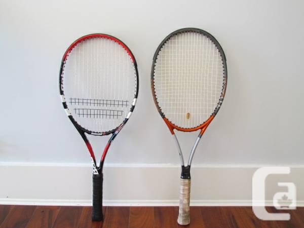 Tennis rackets Babolat and Head - $60