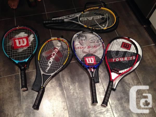 Tennis racquets, balls, carrier - $20