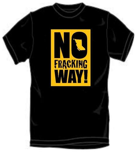 Time to stop oil fracking reserach- wear my shirt!
