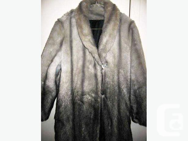 Tissavel Made In France Faux Fur Brown Coat Vintage