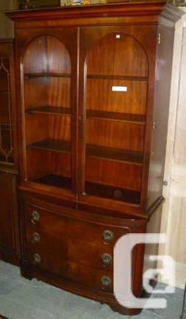Top Quality Mahogany Two Door China Cabinet-REDUCED -