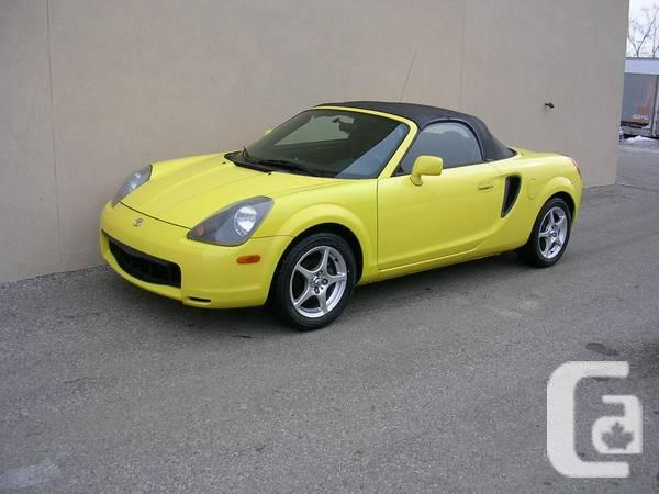 toyota mr2 spyder convertible for sale in guelph ontario classifieds. Black Bedroom Furniture Sets. Home Design Ideas