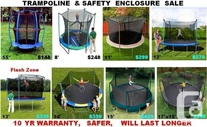 Trampoline & Enclosure Sale 8' 11' 12' 13' 14' 15'