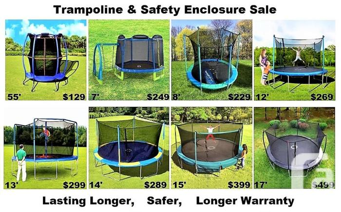 Trampoline & Safety Enclosure Sale,55 7' 8' 12' 13' 14'