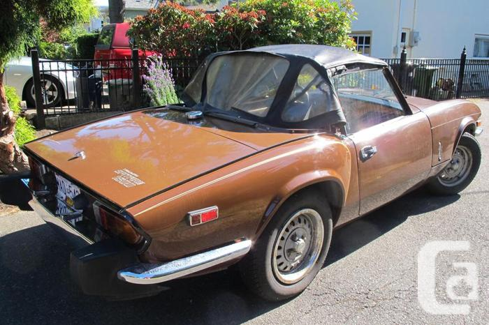 Vehicles Other Automobiles For Sale In Victoria Bc: Triumph Spitfire 78 Sports Car