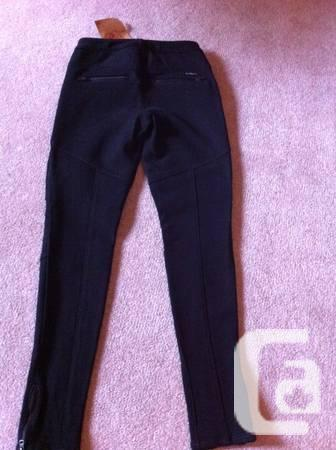 TRUE RELIGION Rachel Moto Black Pants - $95
