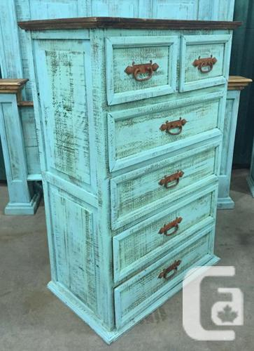turquoise rustic pine dresser tall boy for sale in springbrook alberta classifieds. Black Bedroom Furniture Sets. Home Design Ideas