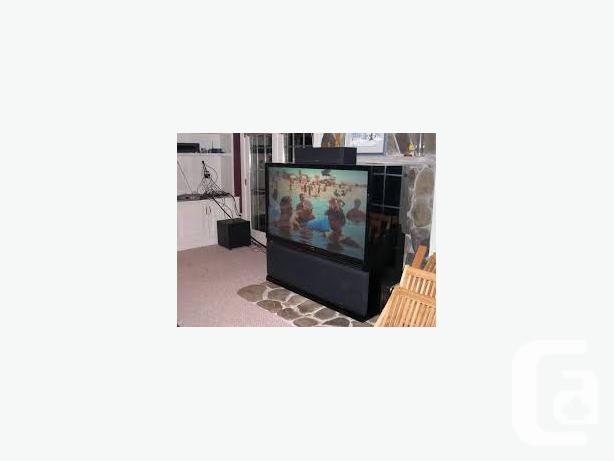 TV - 52 INCH BIG WIDE SCREEN TV - REAR PROJECTOR -