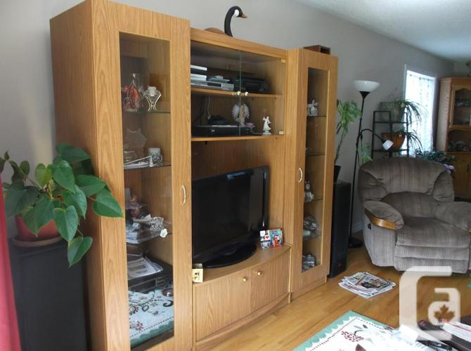 TV Unit with matching Curio cabinets