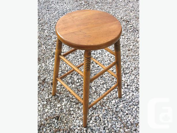 Two Restored & Refinished Canadiana Maple Stools