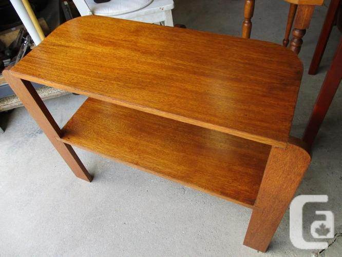 UNCLES 1950S ALL WOOD END TABLE