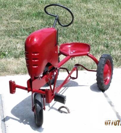 Uncommon- Vintage 1940 Pedal Tractor-Renewed - $600