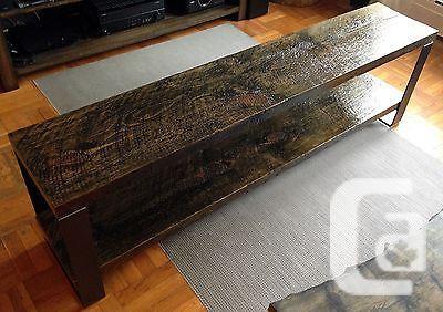 US$1,400 Reclaimed Barn board TV Bench — 126 Year Old