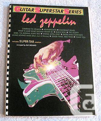 US$14.99 1986 - Rare - Led Zeppelin Super-Tab Guitar