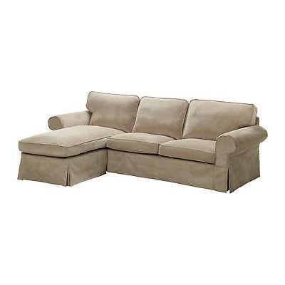Us Ikea Ektorp Cover For Loveseat With Chaise Vellinge Beige For Sale In Mississauga Ontario