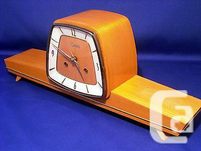 US$200 Rare Art Deco Zentra Chiming Mantel Clock 50´S